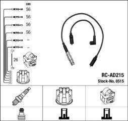 Zündleitungssatz NGK (0515), AUDI, A4, A4 Avant