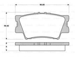 Kit manicotti di guida, Pinza freno BOSCH (1 987 470 611)