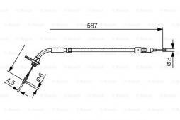 Seilzug, Feststellbremse BOSCH (1 987 477 224), MERCEDES-BENZ, A-Klasse, B-Klasse