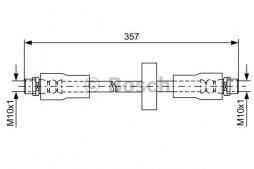 Flessibile del freno BOSCH (1 987 481 591), AUDI, A6 Avant, Allroad