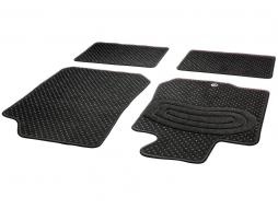 Cartrend Teppich/Textil Fussmatten Set Spot anthrazit 4tlg. Größe B