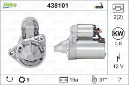 Motorino d'avviamento VALEO (438101), HYUNDAI, KIA, Atos, Atos Prime, Getz, Picanto, i10