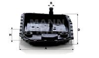 Hydraulikfilter, Automatikgetriebe MANN-FILTER (H 50 001), BMW, X1, X3, 7er, 3er Touring, X6, X5, 3er, Z4 Roadster, 3er Coupe, 3er Cabriolet, 5er, 5er Touring, 6er, 6er Cabriolet, 1er Coupe, 1er, Z4 Coupe, 1er Cabriolet