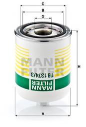 Cartuccia essiccatore aria, Imp. aria compressa MANN-FILTER (TB 1374/3 x)