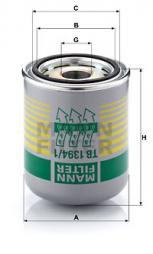 Cartuccia essiccatore aria, Imp. aria compressa MANN-FILTER (TB 1394/1 x)