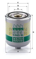 Cartuccia essiccatore aria, Imp. aria compressa MANN-FILTER (TB 1394/3 x)
