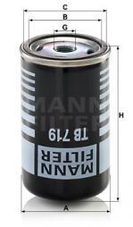Cartuccia essiccatore aria, Imp. aria compressa MANN-FILTER (TB 719)