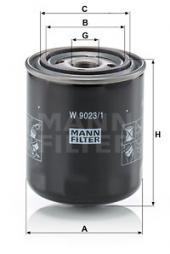 Filter, Arbeitshydraulik MANN-FILTER (W 9023/1)