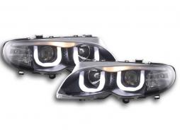 Scheinwerfer Set Daylight LED TFL-Optik BMW 3er E46 Limo/Touring Bj. 02-05 schwarz