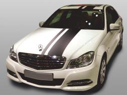 Auto Folie Rallye Streifen weiß selbstklebend 1 Rolle = 10/3cm x 350cm