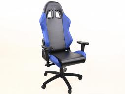 FK sport setat office chair gaming seat Liverpool black/blue swivel chair revolving chair