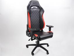 FK chaise de bureau chaise de jeu Liverpool noir/rouge chaise pivotante