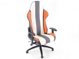 Palette 5x FK Sportsitz Bürodrehstuhl Denver weiß/grau/orange Chefsessel Drehstuhl Bürostuhl