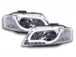 Scheinwerfer Set Daylight LED TFL-Optik Audi A3 8P/8PA Bj. 03-08 chrom