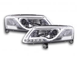 Scheinwerfer Set Daylight LED TFL-Optik Audi A6 4F Bj. 04-08 chrom
