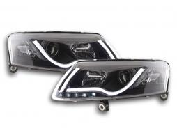 Scheinwerfer Set Xenon Daylight LED Tagfahrlicht Audi A6 4F Bj. 04-08 schwarz