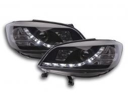 phares Daylight à LED avec look feux de jour Opel Zafira A an. 99-04 noir