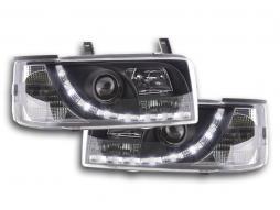 phares Daylight à LED avec look feux de jour VW Bus T4 an. 90-03 noir