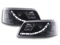 Scheinwerfer Set Daylight LED Tagfahrlicht VW Bus T5 Bj. 03-09 schwarz