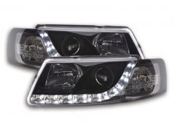 Scheinwerfer Set Daylight LED TFL-Optik VW Passat Typ 3B Bj. 97-00 schwarz