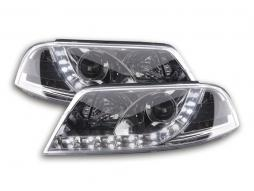Scheinwerfer Set Daylight LED TFL-Optik VW Passat Typ 3BG Bj. 00-05 chrom