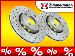 Zimmermann Sportbremsscheiben AUDI 100 Bj. 91-94, VA