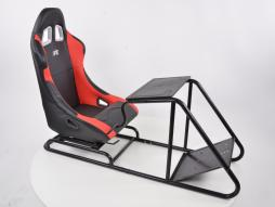 palette 3x siège de jeu pour PC et consoles de jeu en cuir synthétique noir / rouge