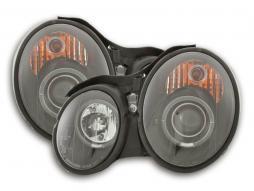 Scheinwerfer Mercedes CLK Typ W208 Bj. 98-02 schwarz für Rechtslenker