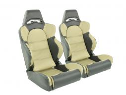 Sportseat Set Edition 1 artificial leather beige/black