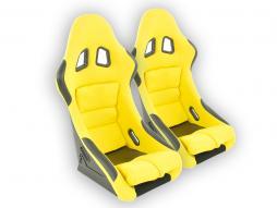 Sedile sportivo coppia Edition 2 (1xsinistra/1xdestra) giallo