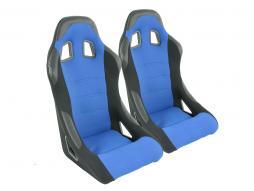 Palette 3x FK Sportsitze Auto Vollschalensitze Set Edition 4 Stoff blau