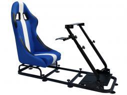 Palette 3x FK Gamesitz Spielsitz Rennsimulator eGaming Seats Interlagos blau/weiß