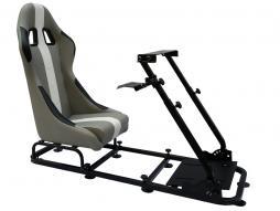 Palette 3x FK Gamesitz Spielsitz Rennsimulator eGaming Seats Interlagos grau/weiß