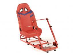 palette 3x FK siège de jeu Monza siège simulateur pour jeux vidéos ou consoles blau/rouge