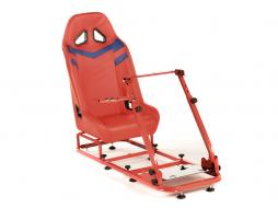 Palette 3x FK Gamesitz Spielsitz Rennsimulator eGaming Seats Monza rot/blau