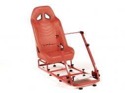 Palette 3x FK Gamesitz Spielsitz Rennsimulator eGaming Seats Monza rot
