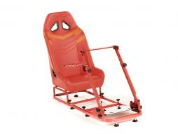 Palette 3x FK Gamesitz Spielsitz Rennsimulator eGaming Seats Monza rot/orange