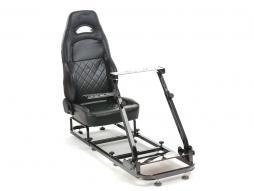 Palette 3x FK Gamesitz Spielsitz Rennsimulator eGaming Seats Silverstone schwarz