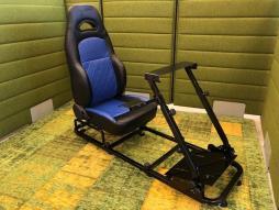 FK Gamesitz Silverstone Rennsimulator für Rennspiele schwarz/blau