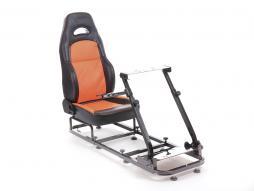 Palette 3x FK Gamesitz Spielsitz Rennsimulator eGaming Seats Silverstone schwarz/orange