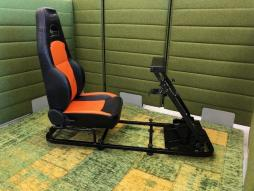 FK Gamesitz Silverstone Rennsimulator für Rennspiele schwarz/orange