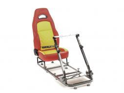 Palette 3x FK Gamesitz Spielsitz Rennsimulator eGaming Seats Silverstone rot/gelb