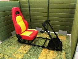 FK Gamesitz Silverstone Rennsimulator für Rennspiele rot/gelb