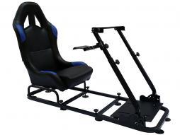 Palette 6x FK Gamesitz Spielsitz Rennsimulator eGaming Seats Monaco schwarz/blau