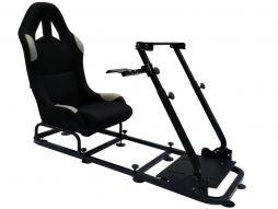 palette 6x siège de jeu pour PC et consoles de jeux matériel noir/gris