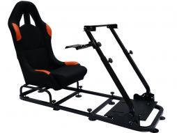 palette 6x siège de jeu pour PC et consoles de jeux matériel noir/orange