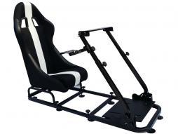Palette 3x FK Gamesitz Spielsitz Rennsimulator eGaming Seats Interlagos schwarz/weiß