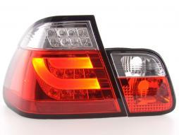 LED Rückleuchten Set Lightbar BMW 3er E46 Limo Bj. 02-05 rot/klar