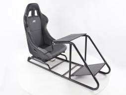 Palette 3x FK Gamesitz Spielsitz Rennsimulator eGaming Seats Estoril schwarz/grau