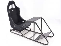 Palette 3x FK Gamesitz Spielsitz Rennsimulator eGaming Seats Estoril schwarz
